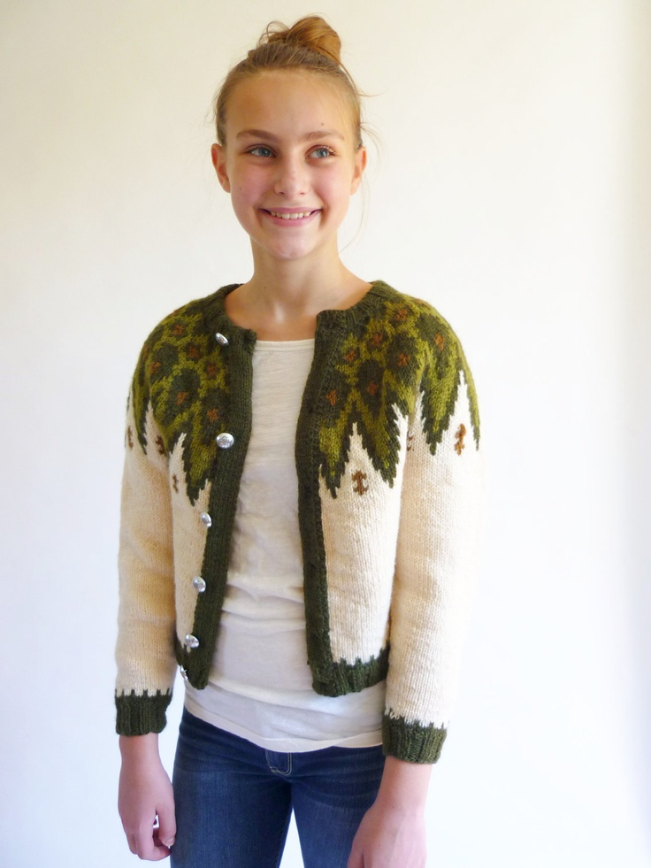 nordic sweater - cropped icelandic cardigan. $46.00, via Etsy.