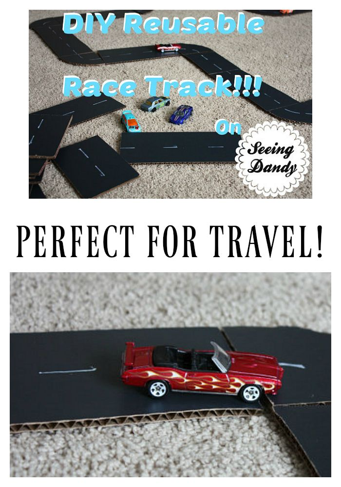 This DIY race track tutorial is easy to follow and it's the perfect toy for travel!