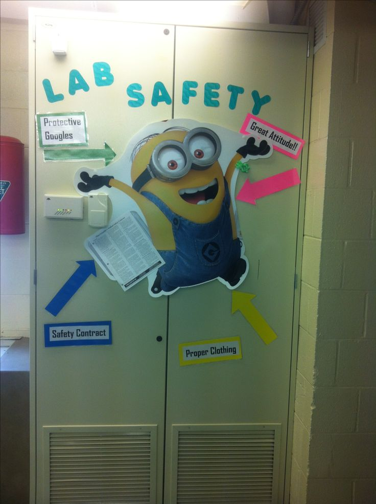 Middle school science: lab safety fun! Really any excuse to put a minion in my classroom!