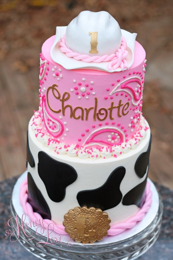 Buttercream cowgirl birthday cake by HoneyLove Cakery