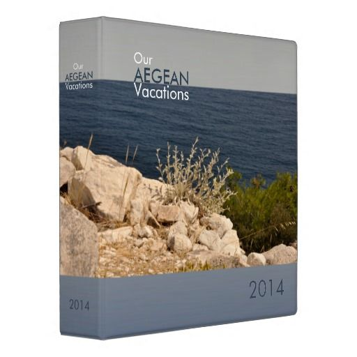 Binder with Aegean colors Fully customizable text on all sides.