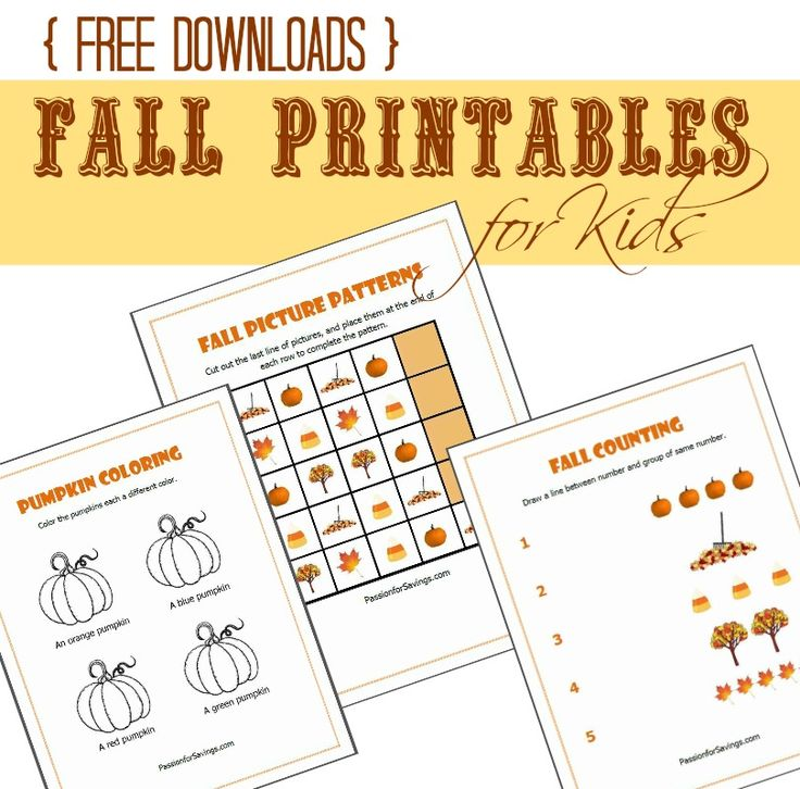 I have 3 Free Fall Printables for Kids you can download and use with your preschoolers! My little girl has been having a lot of fun learning about fall with these 3 different Fall Printable Worksheets for kids. #freeprintables #fallacticvities #preschoolworksheets