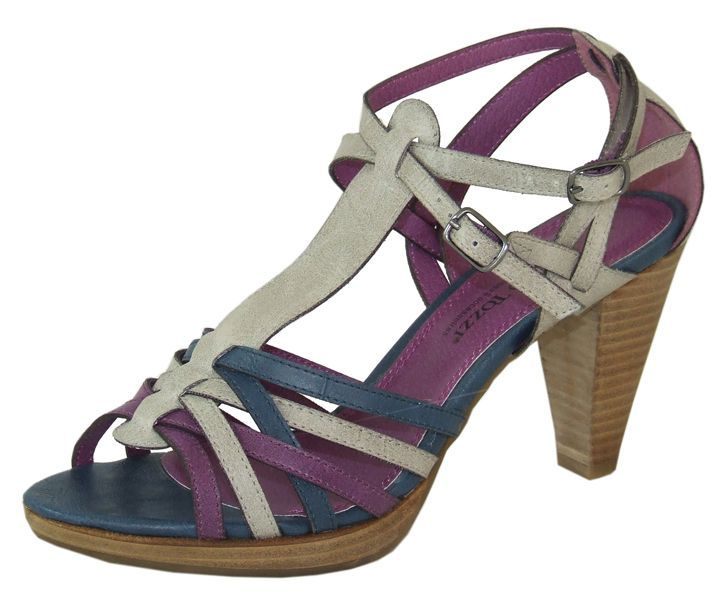 Delphine Teal Grey Purple Heeled Sandal