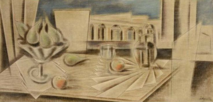Constantine Parthenis-Still life before the Acropolis