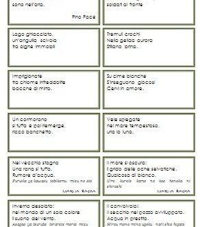 Schede per i primi esercizi di composizione poetica | Lapappadolce