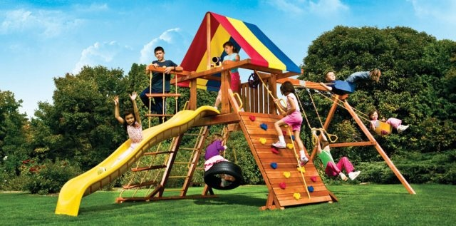 Fiesta Castle Pkg II | Juegos Residenciales | Rainbow | PRODUCTOS JUMBO | Fabricante y distribuidor de juegos infantiles, mobiliario urbano, gimnasios al aire libre, pisos de seguridad en Puebla, México