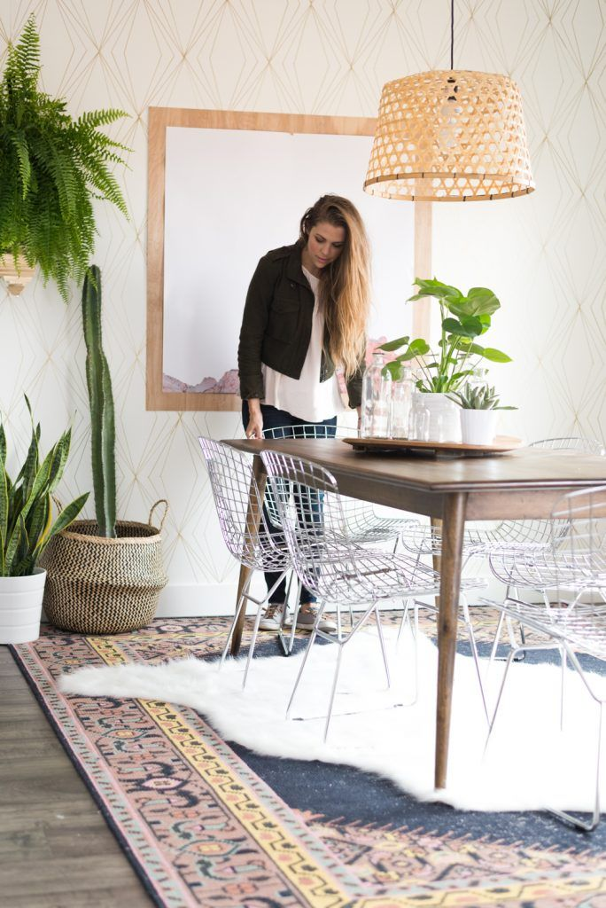 Aspyn Ovard's Dining Room Makeover REVEAL from Vintage Revivals   Check out the details of Aspyn's gorgeous, bohemian, eclectic, fresh dining room and find your own inspiration!