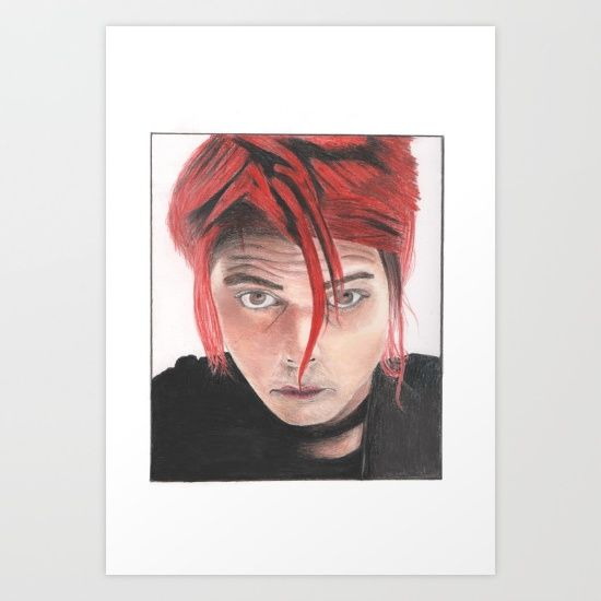 Gerard Way Art Print by Chiara - $16.00