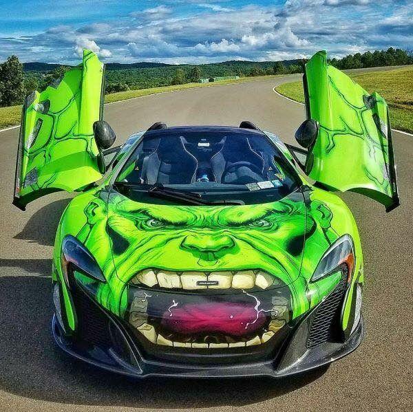 McLaren P1 W Hulk Car Wrap