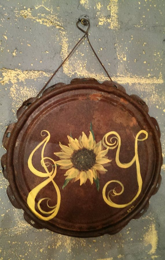 Hey, I found this really awesome Etsy listing at https://www.etsy.com/listing/186374279/hand-painted-joy-sign-with-sunflower-on