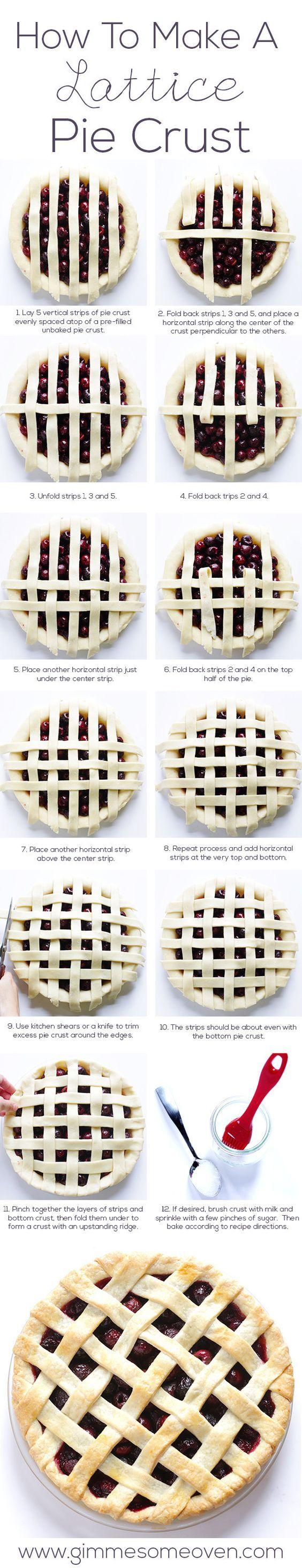 How To Make A Lattice Crust Pie - (Diagram)