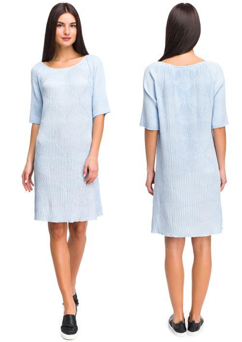 Летнее гофрированное платье