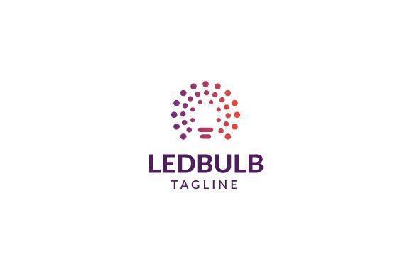 Led Bulb Logo by brandphant on @creativemarket