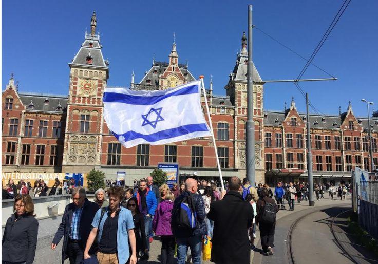 Israeli flags fly high in Amsterdam as part of solidarity campaign - Diaspora - Jerusalem Post