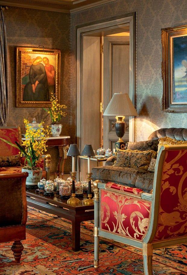 Viver em s o paulo como um imperador sala de estar luis for Decoracion de interiores luis xv