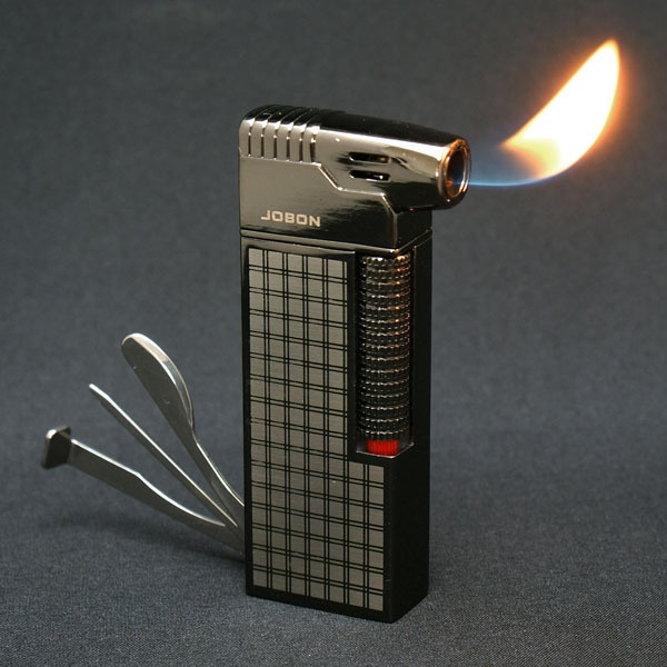 JOBON cigarette pipe butane lighter with pipe tools Black #ZB626   eBay