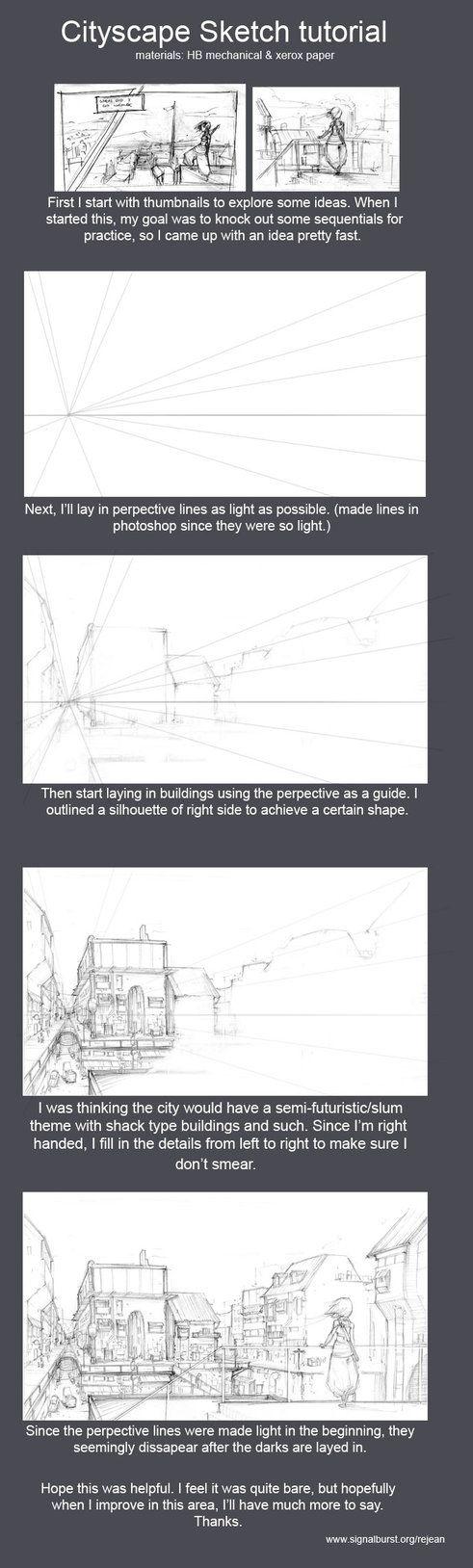 Cityscape Sketch tutorial by kasai on deviantART