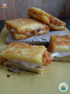 Polenta in carrozza Jamón y Mozzarella.