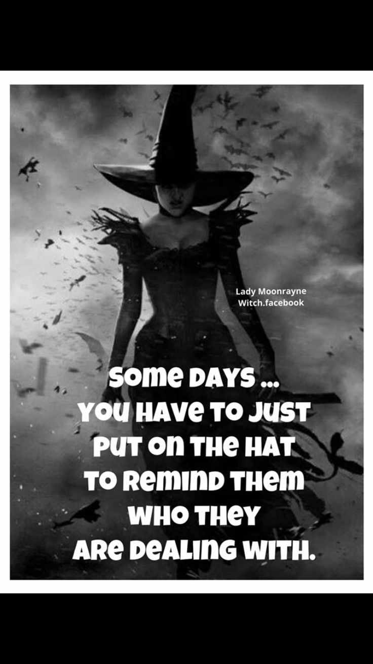 Yep me! Wicked Witch of the North, South, East and West! BOOO!
