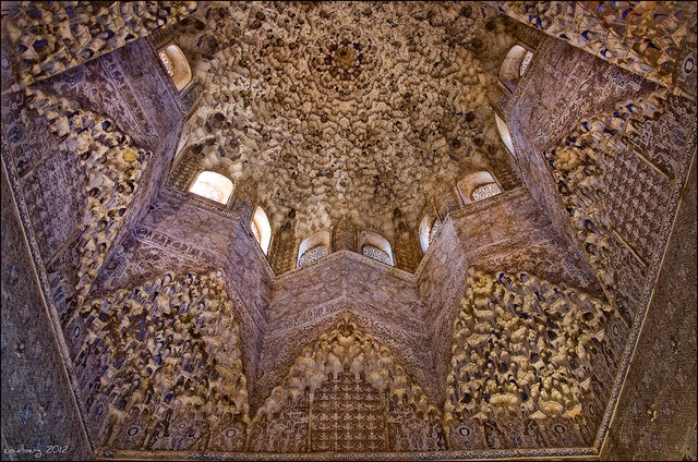 Culture in Granada, Spain (alhambra interior roof) - a photo by zoidberg