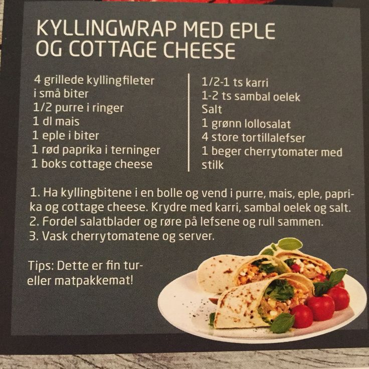 Kyllingfilet med eple og cottage cheese