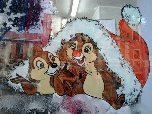 Vetrine natalizie dipinte