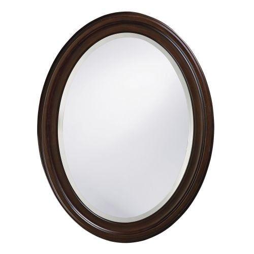"""Howard Elliott 40110 George 33"""" x 25"""" Chocolate Brown Mirror"""