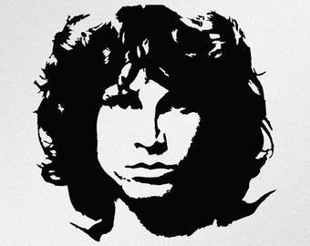 Jim Morrison Silhouette Google Search Jim Morrison Silhouette Art Vinyl Decals