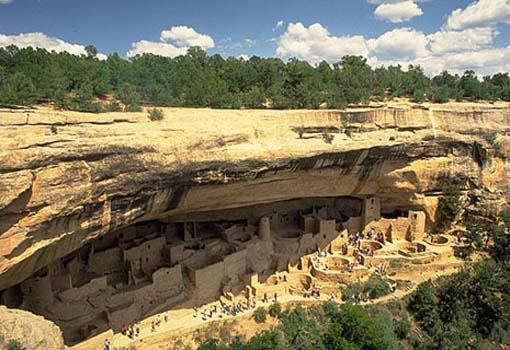 Mesa Verde National Park (Cliff Palace shown), southwest Colorado, U.S.A.
