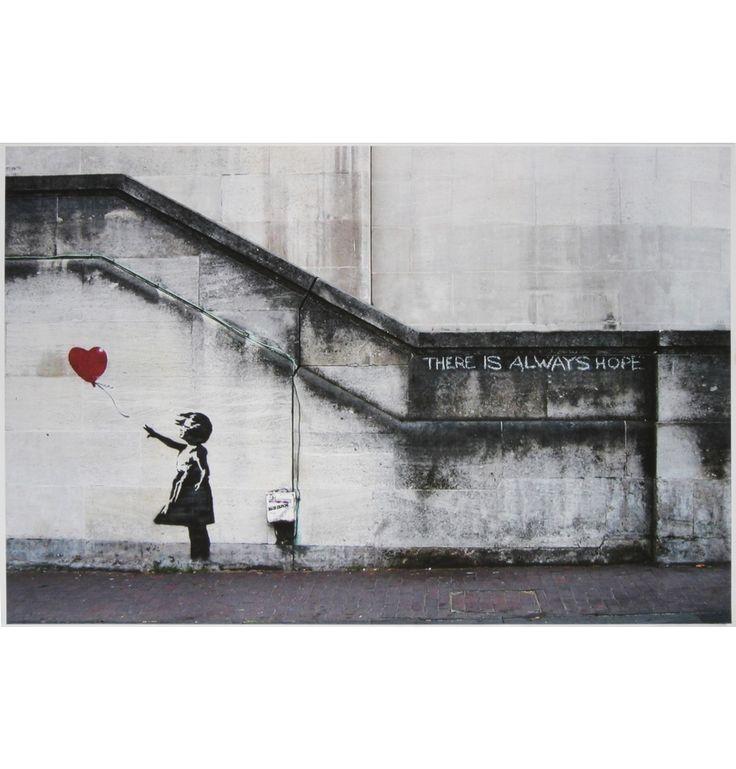 Banksy Canvas Print - Girl with Balloon - Matt Blatt