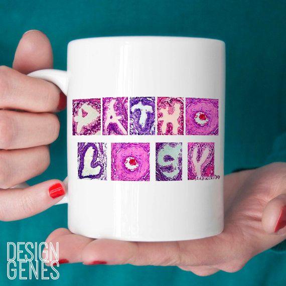Pathology mug Med lab tech gift pathologist by DesignGenesStudio med lab week gift, medical lab technician gift