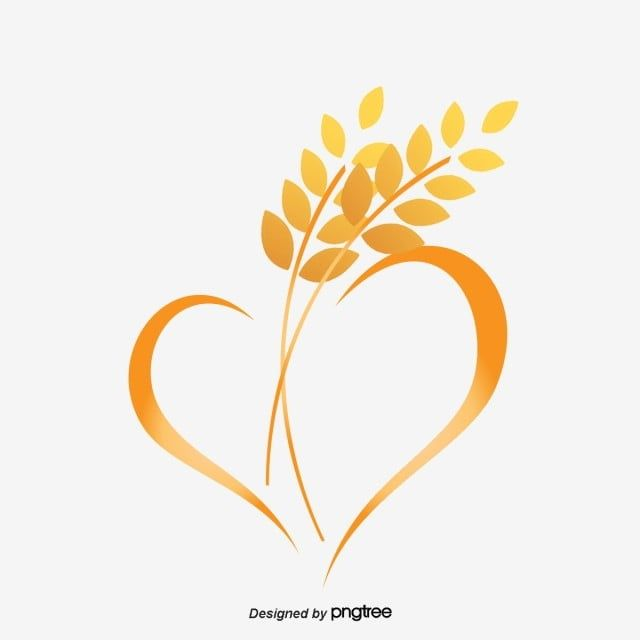Wheat Logo Yellow Heart Shaped Vector Png Transparent Clipart Image And Psd File For Free Download Lotus Logo Light Bulb Icon Snapchat Logo