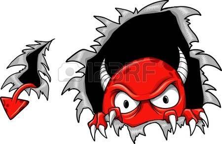 Evil Demon Devil Monster Vector Illustratie