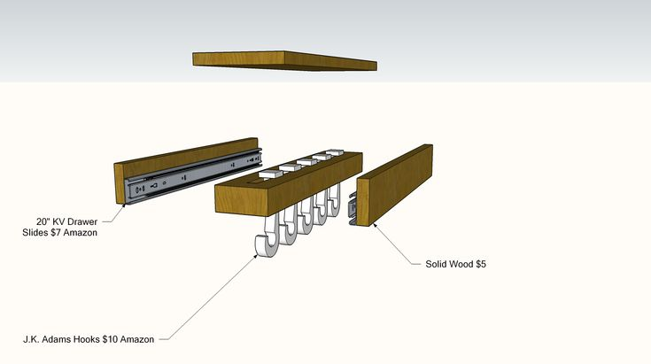DIY Sliding Pot Rack 2 like glideware storage system