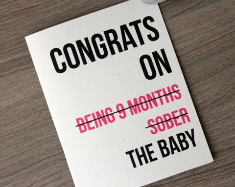 Funny New Baby Card. A little humor for everyone:)