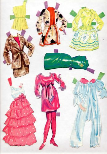Whitman/Mattel BARBIE paper dolls 1969 MOD-ERA-Talking Barbie