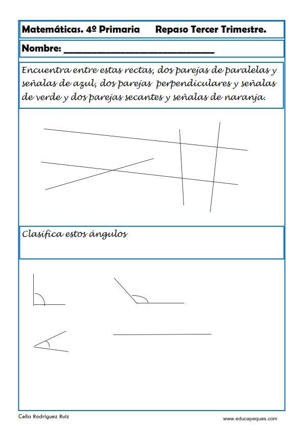 Fichas de Matemáticas Cuarto Primaria | 4* Primaria | Pinterest ...