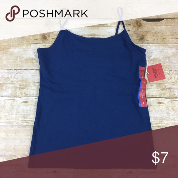 """Camisole with Shelf Bra NWT Large Mossimo Camisole with Shelf Bra NWT Large Mossimo    95% cotton and 5% spandex. About 31 in bust.  """"Flag Blue"""" Mossimo Supply Co Tops Camisoles"""