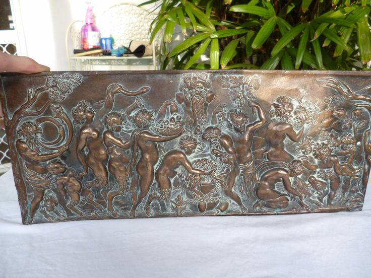 French original Bronze plaque. This plaque shows a Bacchanalian orgy - the Festival of Sacrifice: satyrs and nymphs sacrifice a goat. A very similar bronze relief is in the Bremen (Germany) Art Museum: details-. | eBay!