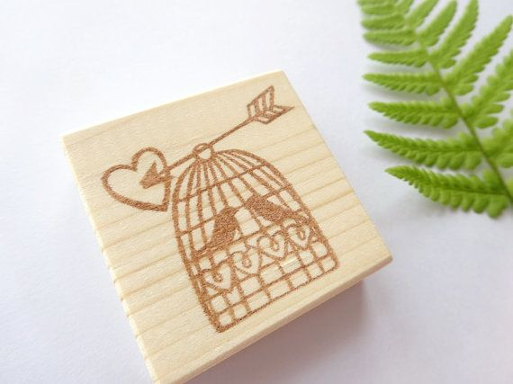 Save the date stamp Birds stamp Antique by JapaneseRubberStamps, £10.00