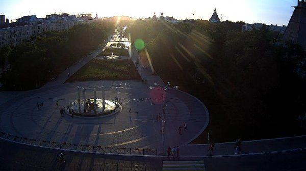 Астрахань, вид на Площадь Ленина, Россия