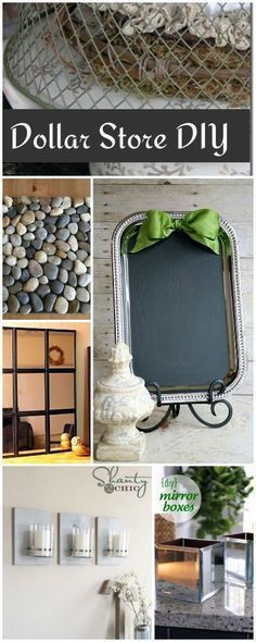 Have a dollar? Then you have what you need to create these crafts! Dollar Store DIY!
