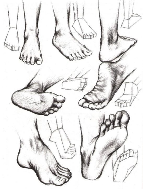 how to draw feet....Sarah, just in case you wanted a foot mural in your house! ;)                                                                                                                                                      More