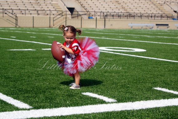 The Crimson Tutu - Team Tutu, Red and White Tutu (Sizes Newborn to 4T) Alabama Tutu, Football Tutu, Cheerleader Tutu, Photo Prop, Costume