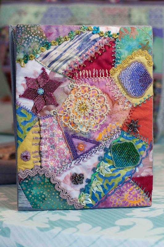 Crazy patchwork notebook