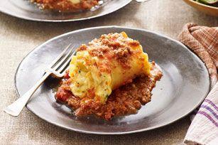 Rouleaux de lasagne crémeux