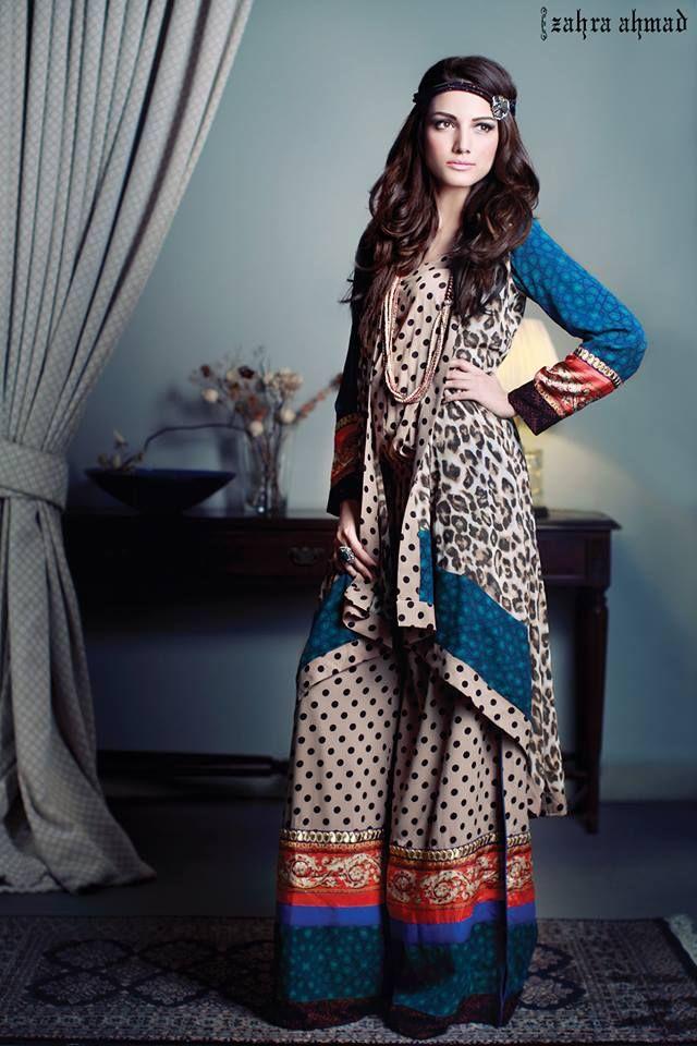 Zahra Ahmad Casual Wear Women Dress Collection 2014  (10)