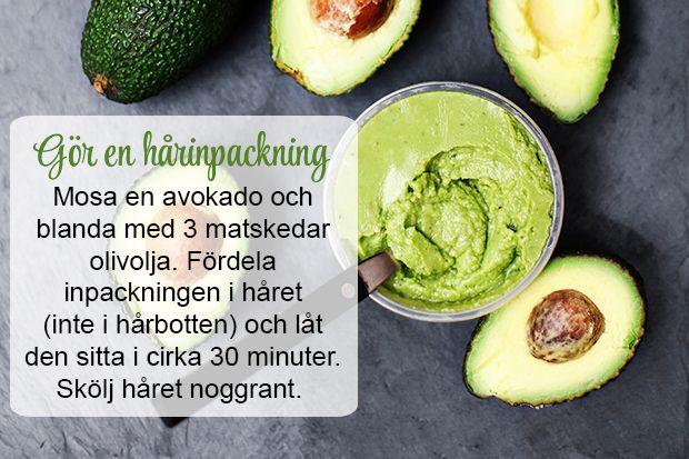 Gör en hårinpackning med avokado!