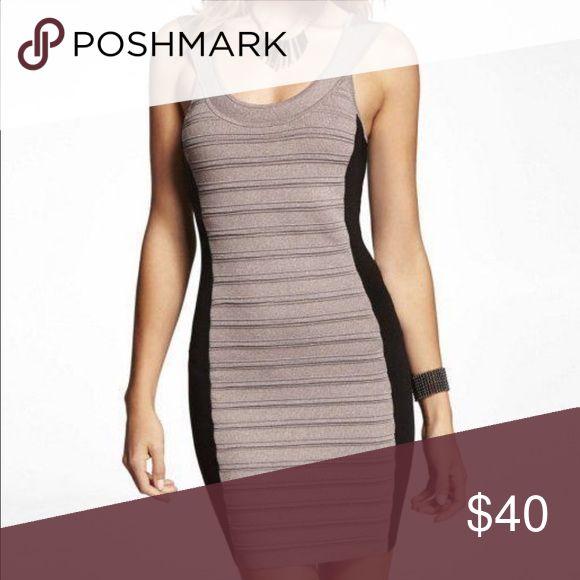 Color block banded dress express