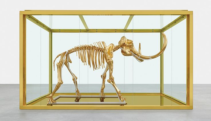 Golden mammoth by Damien Hirst was sold for 11 million Euros at the 21st annual Cinema Against AIDS celebrity auction in Antibes, France.